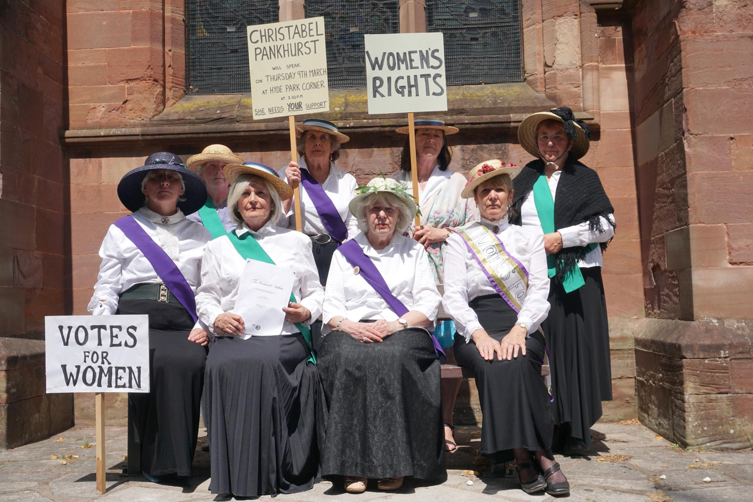 Members of Halesowen's St John's Choir will perform BBC Radio 3's 'Pankhurst Anthem' to celebrate 100 years of women's suffrage.