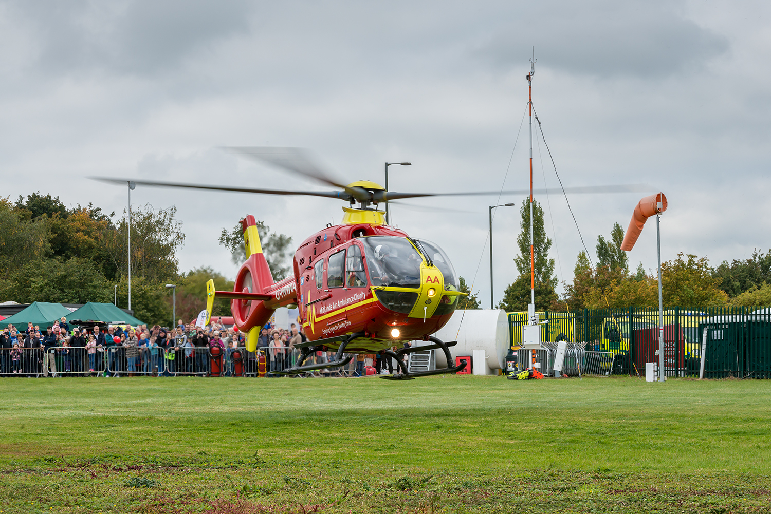HELICOPTER: An air ambulance at Strensham