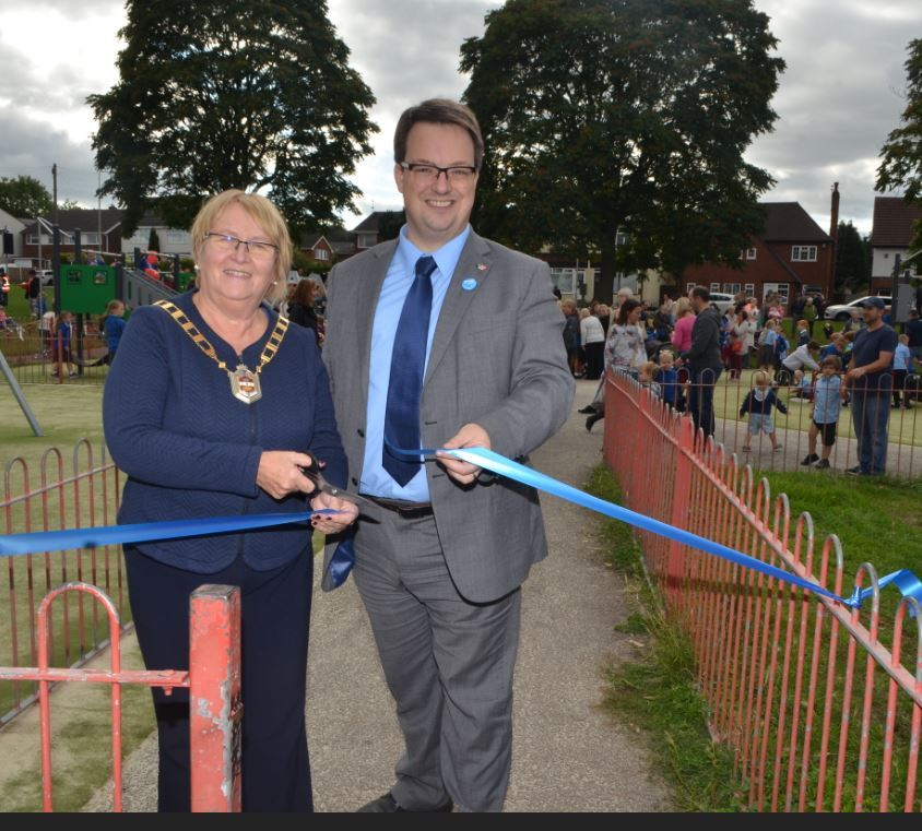 Deputy Mayor of Dudley - councillor Hilary Bills, with Dudley South MP Mike Wood.