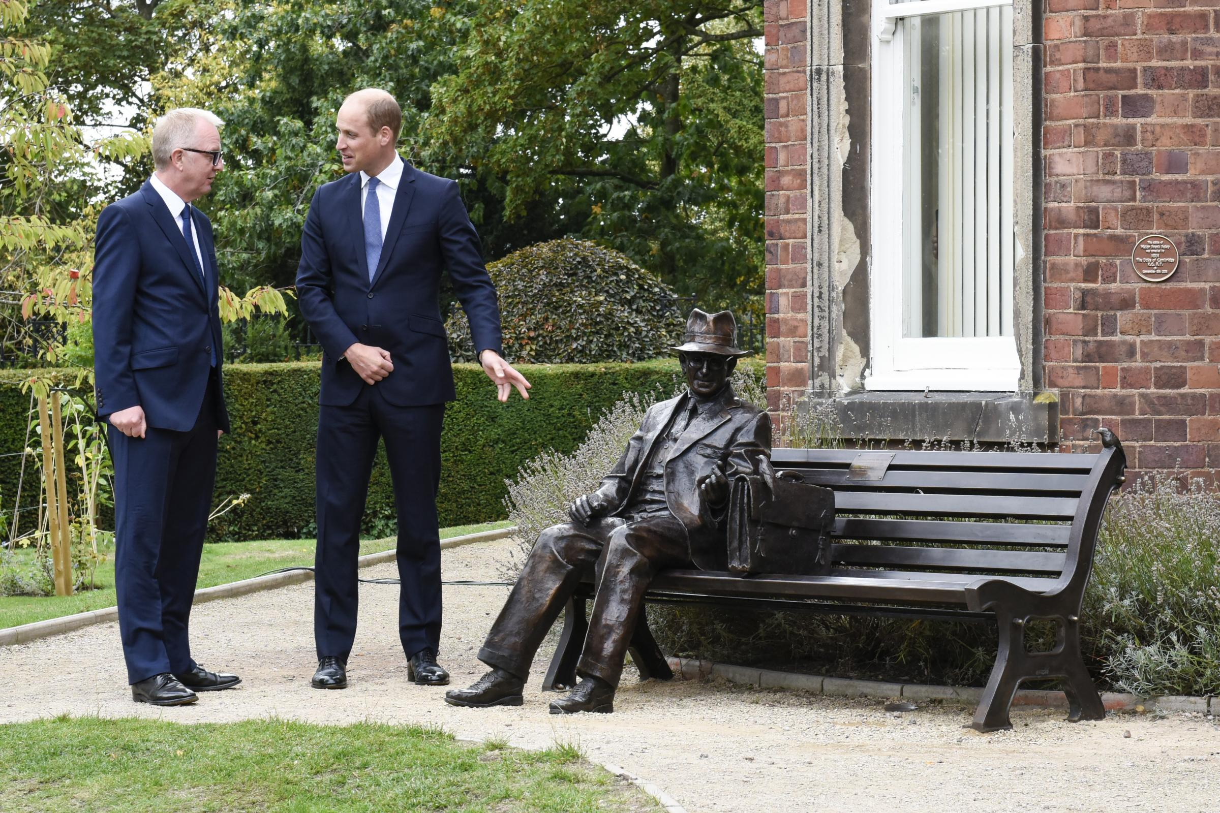 The Duke of Cambridge at the unveiling of a sculpture of Frank Foley at Mary Stevens Park, Stourbridge. PRESS ASSOCIATION Photo. Picture date: Tuesday September 18, 2018. See PA story ROYAL Cambridge. Photo credit should read: Aaron Chown/PA Wire.