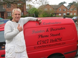 Determined: Stuart Hill-Blount who has set up his own painting and decorating business.