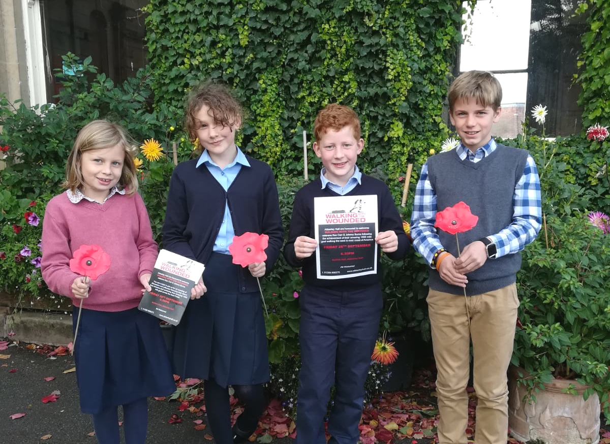 Pictured with posters promoting the event, from left, pupils Tilda Detheridge, Macy O'Neil, Harry Angell-James and Oscar Payne,