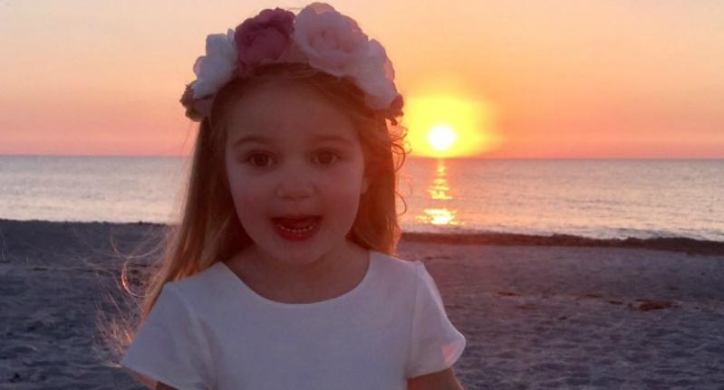 Holly Blossom Hutchings who is in remission from cancer. Picture: Huchings family/ Just Giving