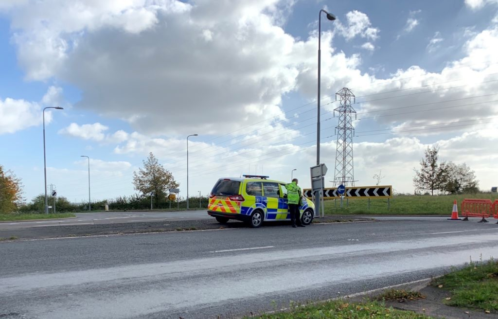 The scene of the A449 crash in which a cyclist was killed. PIC: Lewis Wilcock