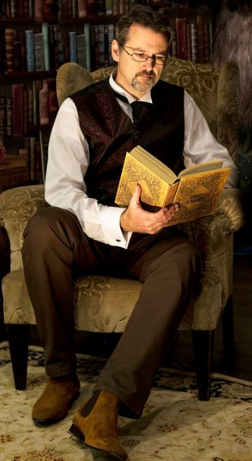 Alan Birch as The Librarian. Pic by Paul Butcher