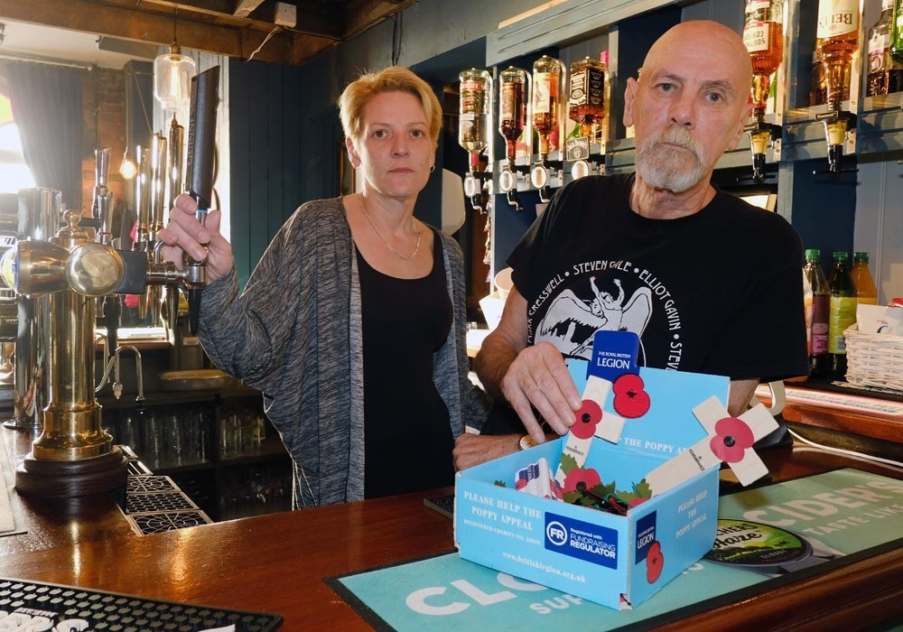 'Low life' steals Poppy Appeal cash from Kidderminster pub