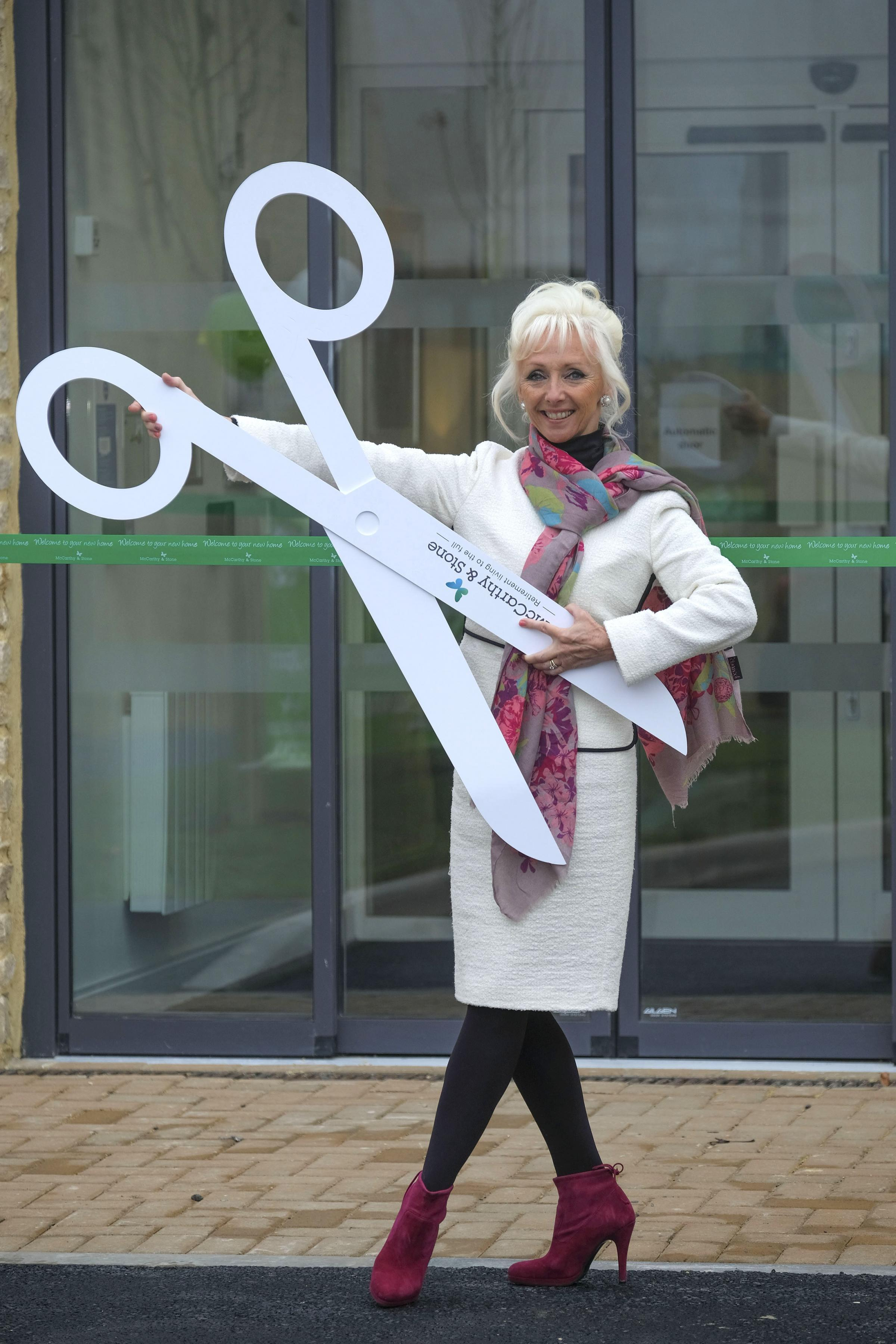 Debbie McGee, former Strictly star, opens Mccarthy and Stone development in Stow-On-The-Wold