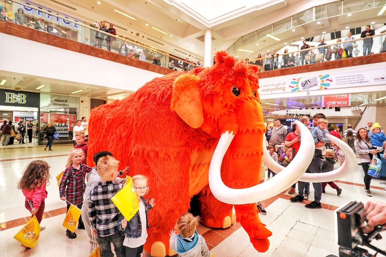 Marmalade, intu Merry Hill's very own mammoth, will be taking part in the celebrations.