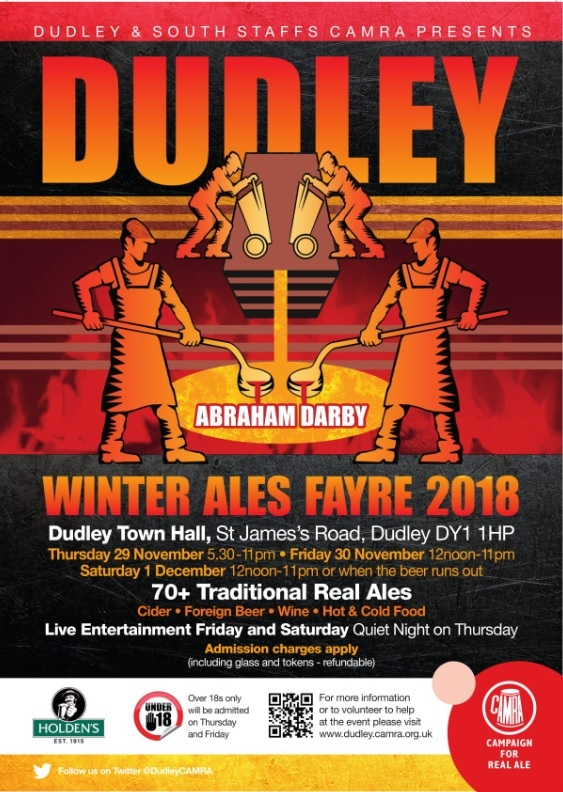 Dudley Winter Ales Fayre takes place at Dudley Town Hall. Image: Dudley and South Staffordshire CAMRA.
