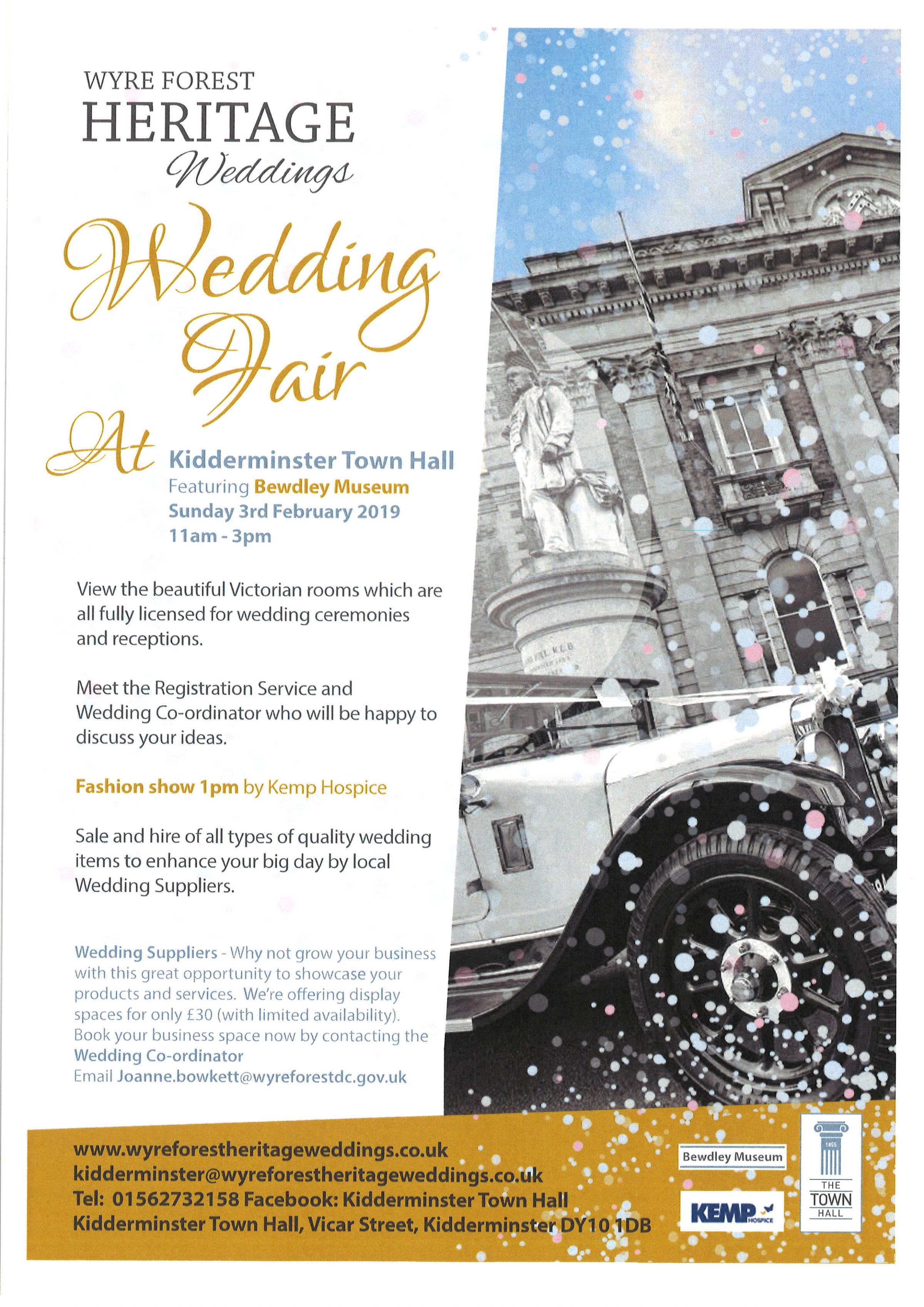 Kidderminster Town Hall  Wedding Fair