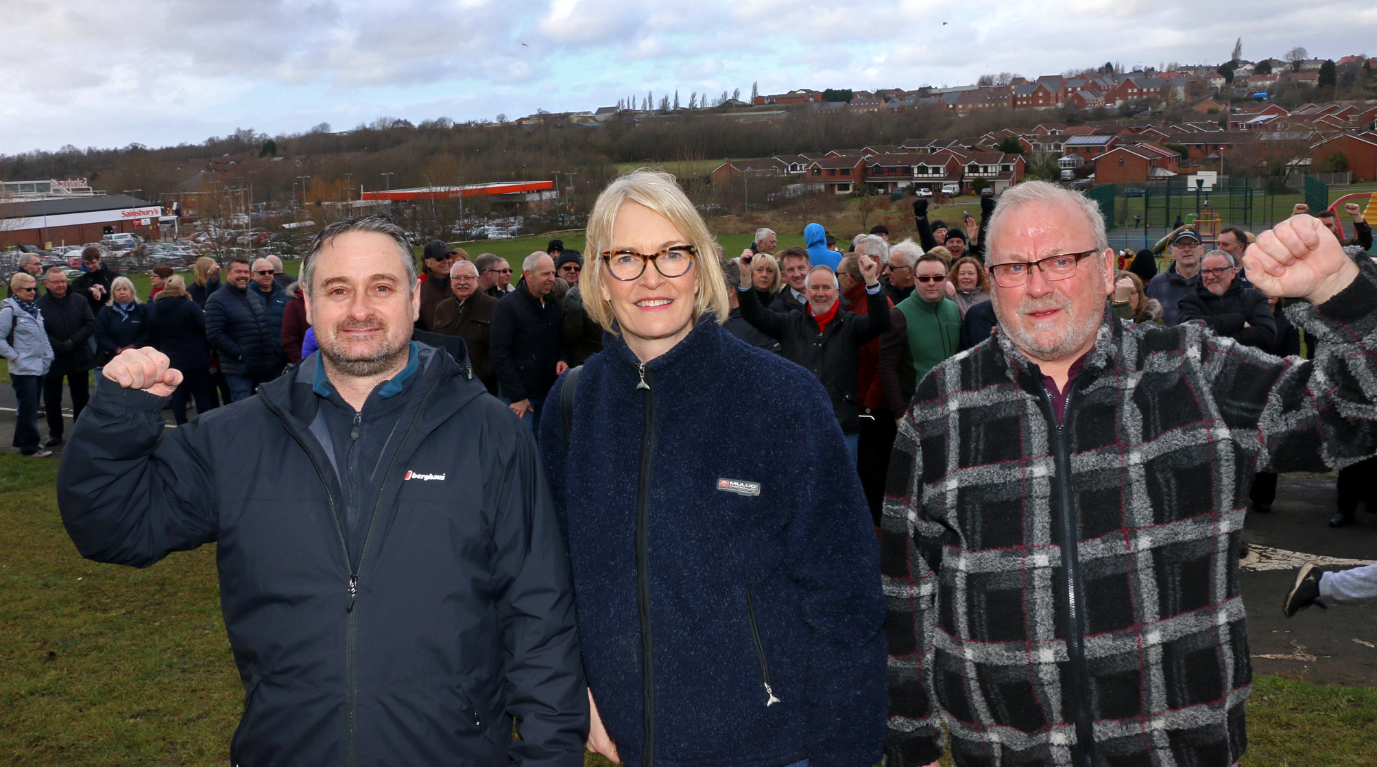 Cllr Paul Bradley, Margot James MP and Tory election hopeful Peter Lee