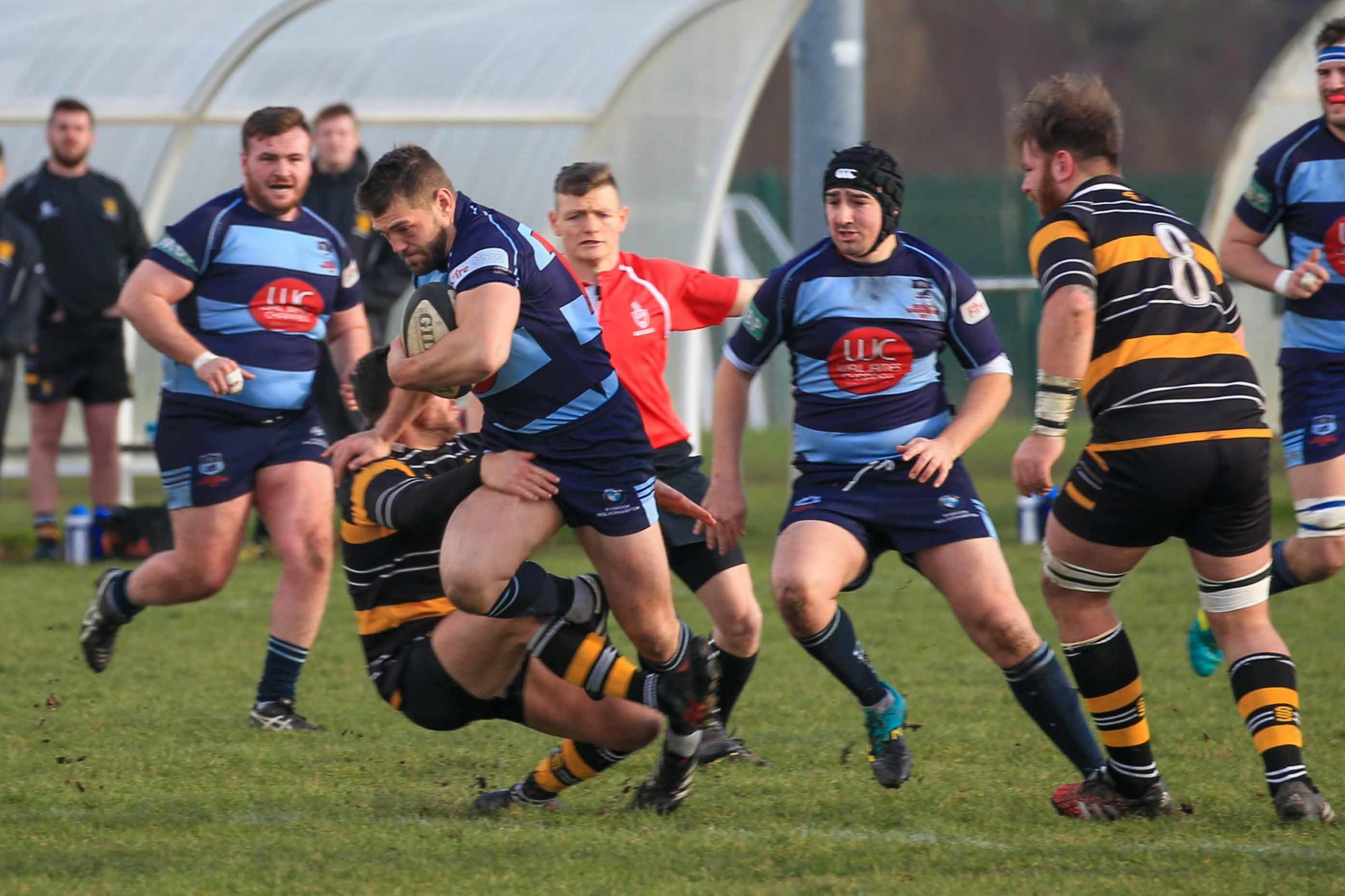 Stefan Shillingford bagged a hat-trick of tries against Moseley. Photo by Ian Jackson