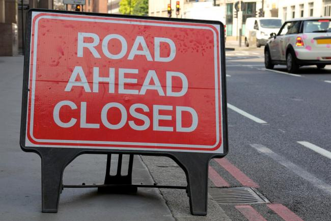 Two Halesowen roads have been closed due to water leaks.