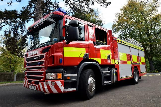 Fire crews were called to a chip shop on Camp Hill in Wordsley.
