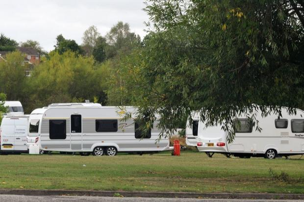 2f935091154 An unauthorised travellers  camp
