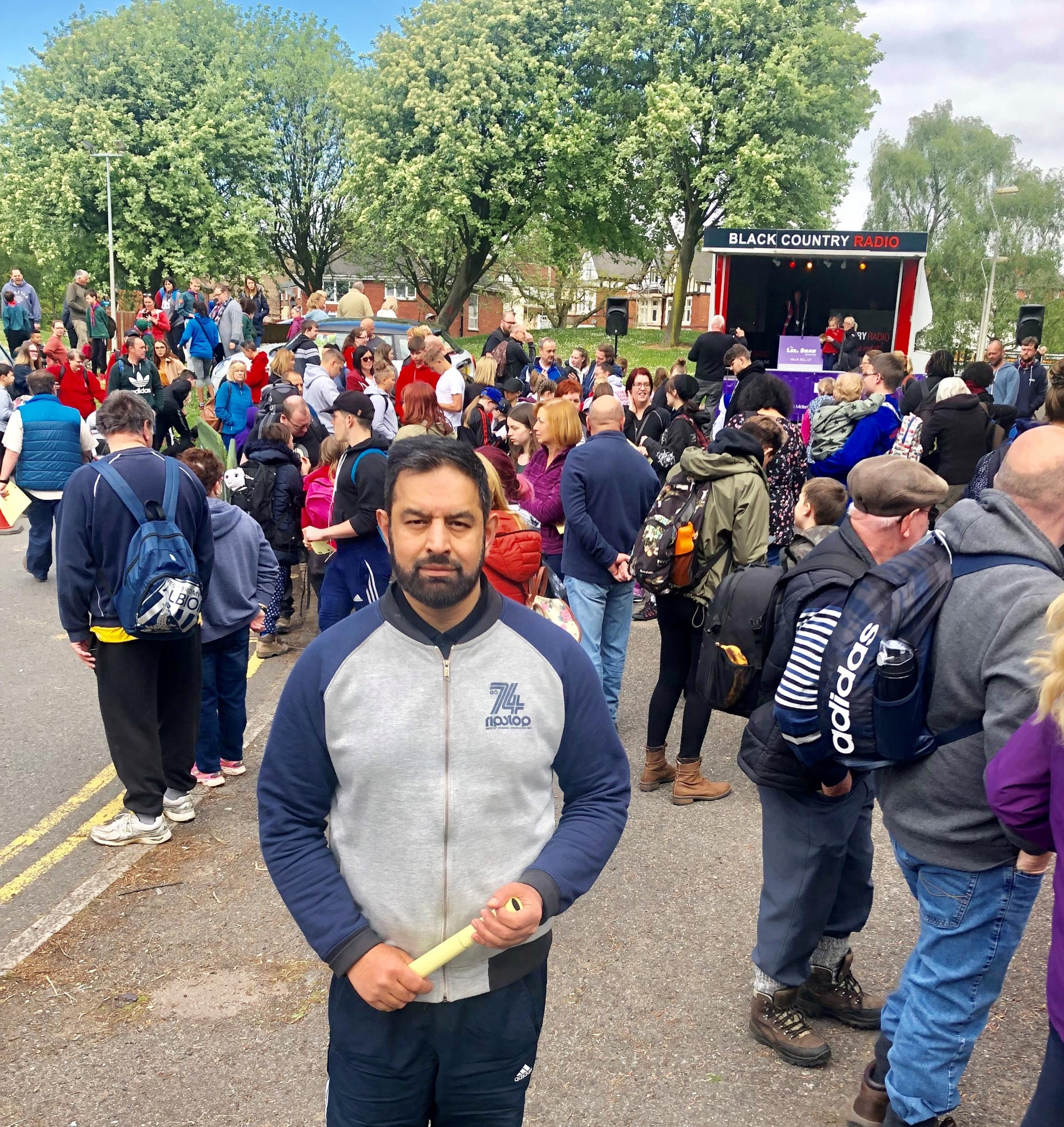 Mohammed Sagir, one of the thousands of people who took part in the Dudley Trail 2019.
