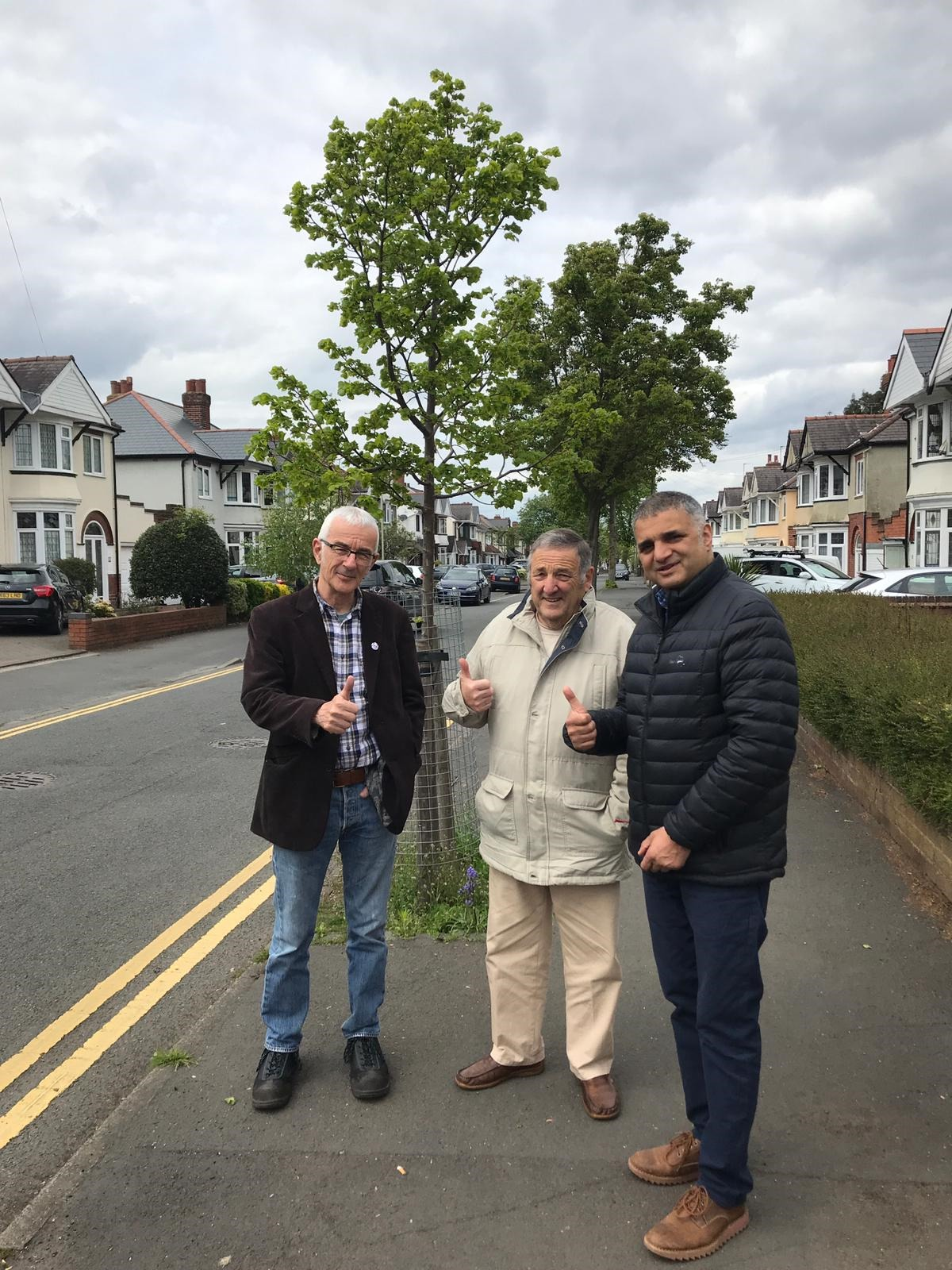 Residents Clive Jones and Tony Burford with new Halesowen North councillor Parmjit Sahota