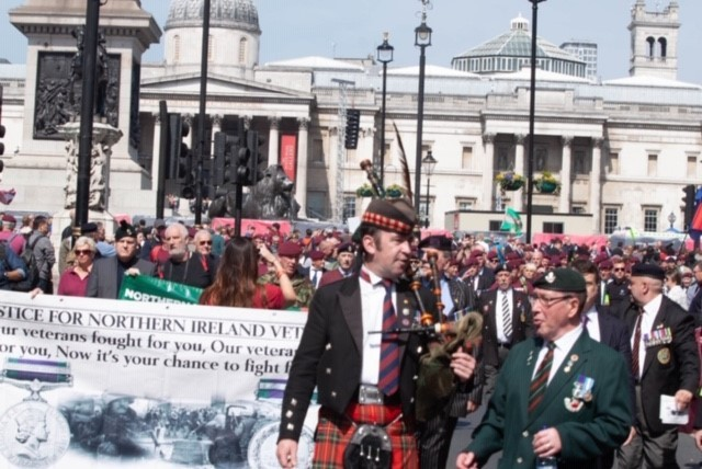 A similar veterans march was well attended in London last month.