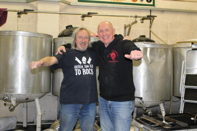 David Kelly from Kinver Brewery and Phil Cope from Witchfinder General