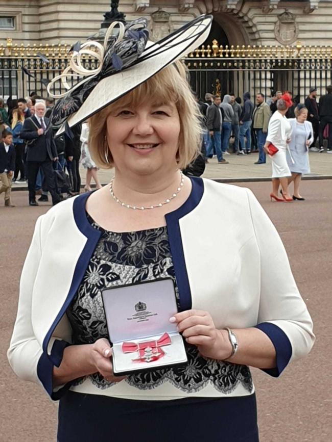 Dr Janine Barnes with her MBE. Picture: Dr Janine Barnes