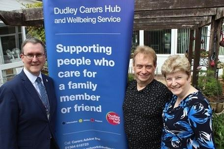 Phil and Maureen Westwood with Councillor Nicolas Barlow, cabinet member for health and adult social care