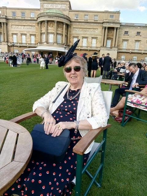 Stourbridge News: Pauline Farley from the league attended a garden party at Buckingham Palace in May along with other award recipients