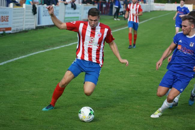 Robbie Bunn in action for Bromsgrove Sporting. Picture by David Kettle