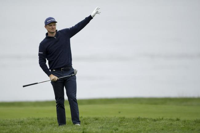 Justin Rose is leading at Pebble Beach